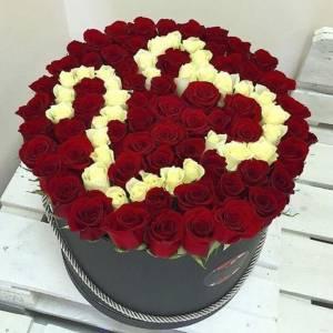 101 красная роза с цифрами R845