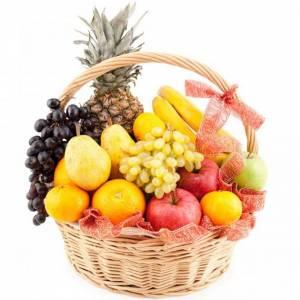Корзина с фруктами в ярких тонах R325
